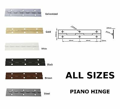 1000mm (1m) CONTINUOUS METAL PIANO HINGE ALL COLOURS