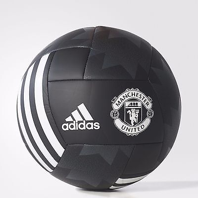 2018 New Manchester United Football Soccer Ball Adidas Black Size 5