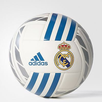 2018 New Real Madrid Adidas Football Soccer Ball White Size 5
