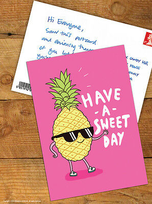 Brainbox Candy 'Pineapple' Postcard Funny Comedy Cute Humour Novelty Cheeky Joke