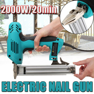Electric Staple Gun Straight Nail Special Use 30/min Woodworking Tool 10-30mm
