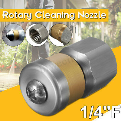 1/4''F Rear Jets Pressure Washer Drain Rotary Cleaning Nozzle Jetter nozzle