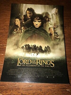 Lord Of The Rings Postcard Movie Cover