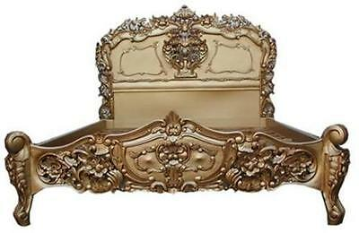 Rococo Antique French Bed - Antique Gold - RRP £999