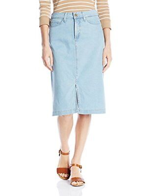 NYDJ Women's Evelyn Jean A-Line Skirt in Chambray Denim Coral Springs 6, New