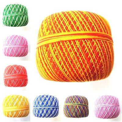 SIZE 20 SHADED 100 Grams Cotton Thread Yarn Knitting Crochet Lace Embroidery DIY