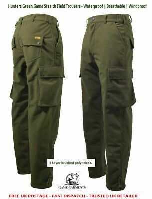 Game Hunters Green Stealth Trousers for Men. Hunting / Shooting / Fishing