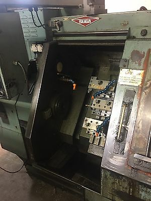 Suga ST-100 Slant Bed Gang Tool CNC Lathe Reduced Price!