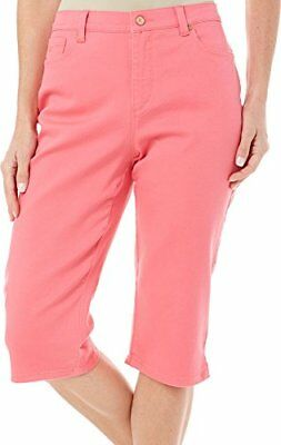 Gloria Vanderbilt Women's Amanda Petite Colored Denim Skimmer Capri 12P Pink Per