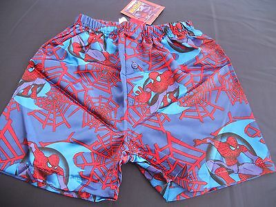 Boys Spiderman satin boxer shorts   Size 2,3,4,5 & 6               NWT