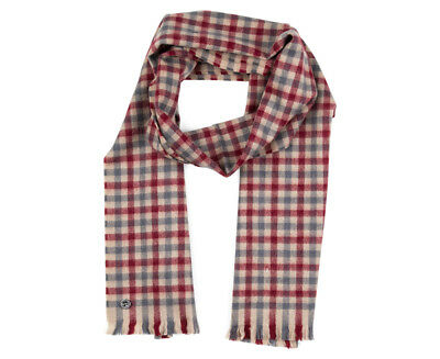 Ben Sherman Men's Woven House Gingham Scarf - Maroon