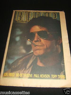 New Zealand Music Magazine Lou Reed The Go-Betweens The Topp Twins 1985