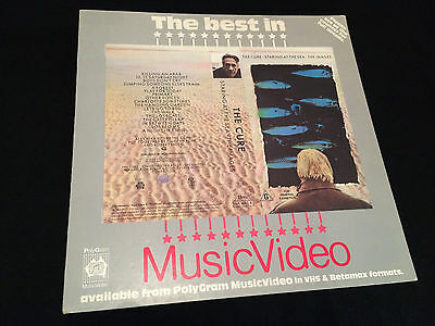 The Cure Staring At The Sea The Images Australian Lp Bin Card Beta Version Inlay