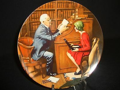 "Norman Rockwell Decorative Plate, ""The Professor"""