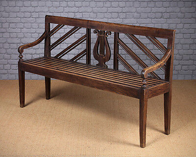 Antique Edwardian Era Ash Bench c.1900
