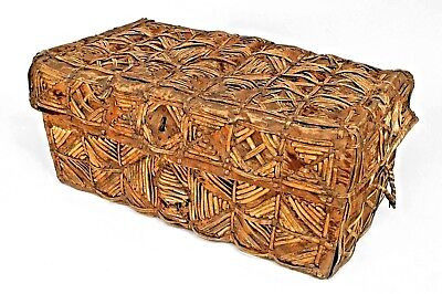 South American Colonial (Peruvian 19th Cent.) Cowhide & Leather Floor Trunk