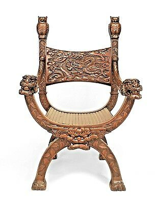 Asian Chinese Style (19th Cent.) Mahogany Armchair