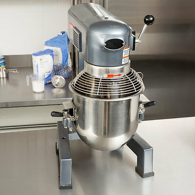 Commercial Dough 10 Qt Planetary Stand Mixer W/Guard 3 Attachments Gear Driven