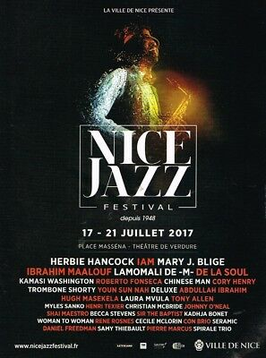 A- Publicité Advertising 2017 Concert Nice Jazz Festival Nice