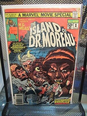 Marvel Movie Special The Island of Dr Moreau 1977 #1 Marvel Comics H.G. Wells