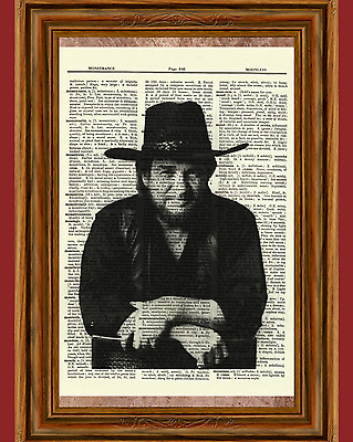 Waylon Jennings Dictionary Art Print Poster Picture Vintage Book Country Singer