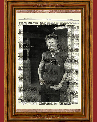 Kris Kristofferson Dictionary Art Print Poster Picture Vintage Book Country