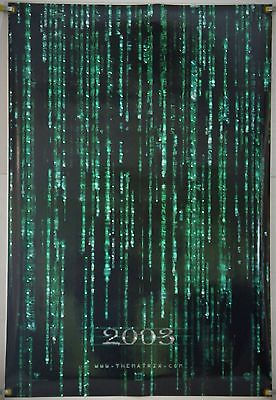 Matrix Reloaded Rolled Holofoil Tsr Orig 1Sh Movie Poster Keanu Reeves (2003)