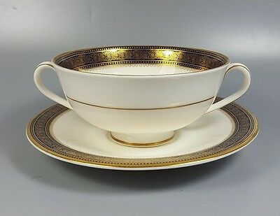 Royal Doulton Rochelle H5024 Cream Soup Coupe / Cup And Saucer (Perfect)