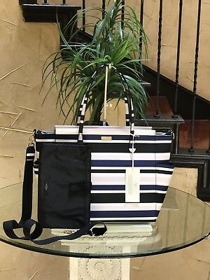NWT Kate Spade Kaylie Laurel Way Printed Baby Diaper Bag Tote Cruise Stripe $349