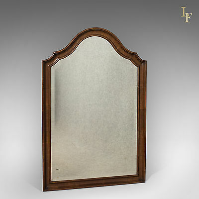 Antique Wall Mirror, English, Walnut Edwardian, GH Morton & Sons Liverpool c1910