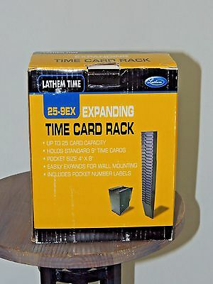 Lathem 25-9Ex Expanding Time Card Rack