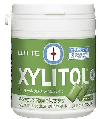 Lotte XYLITOL Lime Mint bottle 143g 94 tablet piece From Japan