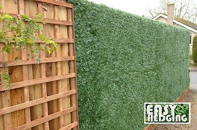 Instant Artificial Grass Fake Hedging Roll Privacy Screening Covers Garden Wall