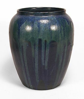 PRP Saturday Evening Girls pottery semi matte blue green drip vase arts & craft