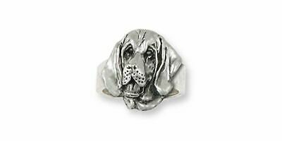 Bloodhound Ring Jewelry Sterling Silver Handmade Dog Ring BHD2-R