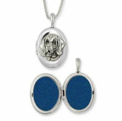 Bloodhound Photo Locket Jewelry Sterling Silver Handmade Dog Photo Locket BHD2-V