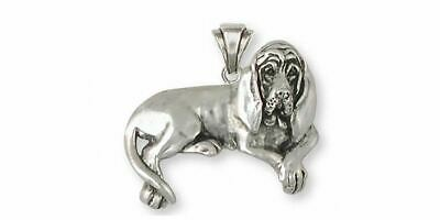 Bloodhound Pendant Jewelry Sterling Silver Handmade Dog Pendant BHD5-P
