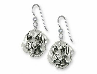 Bloodhound Earrings Jewelry Sterling Silver Handmade Dog Earrings BHD2-E