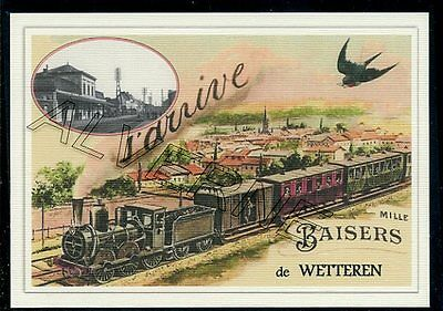 WETTEREN   -train  souvenir creation moderne - serie limitee numerotee