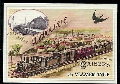 VLAMERTINGE  -train souvenir creation moderne - serie limitee numerotee