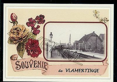 VLAMERTINGE  - gare souvenir creation moderne - serie limitee numerotee
