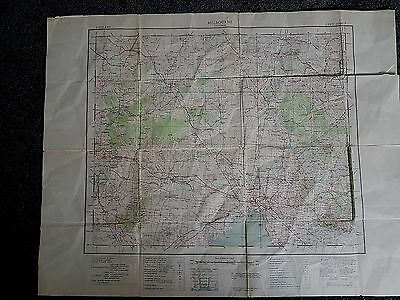 Large Melbourne Military Old Map Chart Victoria 1943  Australia
