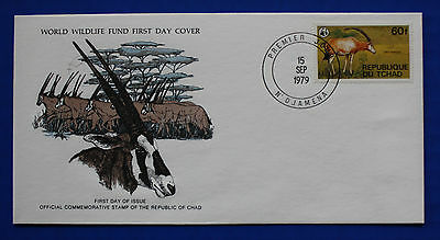Chad (369) 1979 Protected Animals - Oryx Antelope WWF FDC