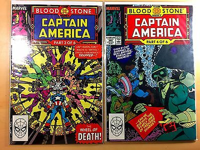 Captain America #358 #359 #360 #362 Blood Stone (Oct 1989, Marvel)