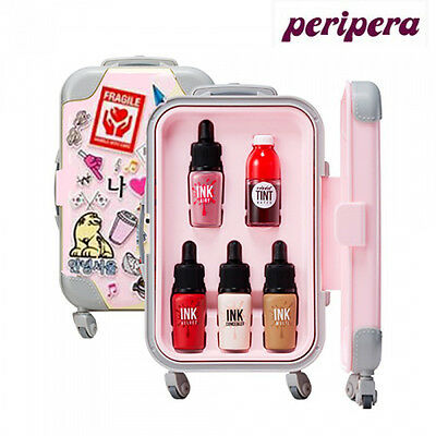 [PERIPERA] 01 PINK SEOUL Mini Luggage Carrier Set Ink Lip Tint + Shadow NEW