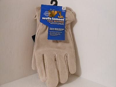 Wells Lamont Mens Cold Weather Cowhide Work Gloves, 1072L, Large, Free Shipping