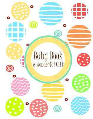UNISEX modern design baby memory record book / up to 4 years of age HARD COVER