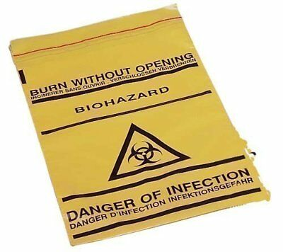 New Clinical Waste Bags Self Seal Medical Disposal Biohazard Trash Bags Pk Of 50