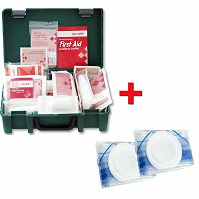 10 Person HSE First Aid Workplace Kit + 2 CPR Faceshileds FREE