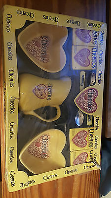 cheerios bowls,  pitcher , spoons-  2003 gift set